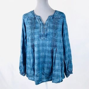 Style&co 0X Blue long sleeved blouse